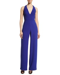 Black Halo Halter Neck Wide Leg Jumpsuit Stargazer Women's