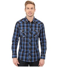 Rock And Roll Cowboy Long Sleeve Snap B2s5412 Blue Men's Long Sleeve Button Up