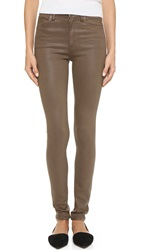 Gold Sign Brigitte High Rise Skinny Jeans Leatherwood
