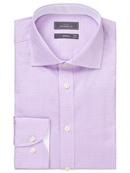 John Lewis Luxury Houndstooth Tailored Fit Shirt Lilac White