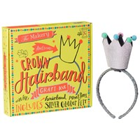 The Makery Make Your Own Crown Headband Craft Kit Silver