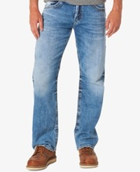 Silver Jeans Co. Men's Gordie Loose Straight Fit Stretch Indigo