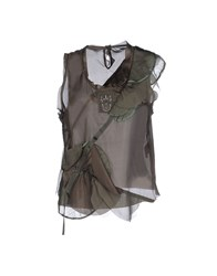 Marithe' F. Girbaud Marithe Francois Girbaud Topwear Tops Women Military Green