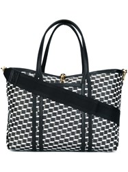 Pierre Hardy Geometric Print Tote Bag Black