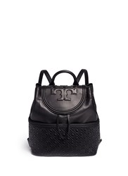 Tory Burch 'Fleming' Quilted Leather Backpack Black