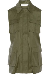 Elizabeth And James Nikki Twill Vest Green
