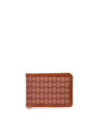 Neiman Marcus Printed Flip Wallet With Money Clip Red Foulrd