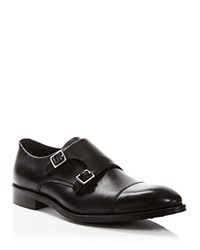 Gordon Rush Hudson Monk Strap Shoes Black