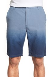Men's O By Oscar De La Renta Tie Dye Dobbie Shorts Navy