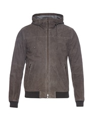 Vince Hooded Suede Jacket