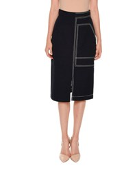 Stella Mccartney Topstitched Pencil Skirt Navy