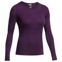 Icebreaker Everyday Long Sleeve Crewe Merino Wool Base Layer Black