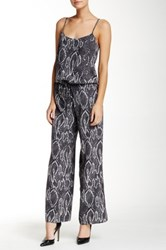 Haute Hippie Sexy Back Strap Silk Jumpsuit Gray