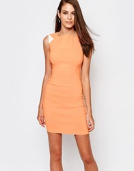 Vesper Lea Bodycon Pencil Dress Orange
