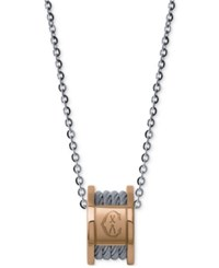 Charriol Women's Forever Two Tone Pvd Stainless Steel Cable Pendant Necklace Silver