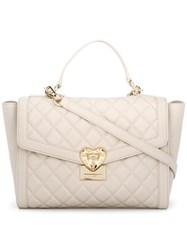 Love Moschino Quilted Tote White