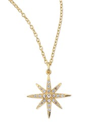 Compass White Topaz Star Pendant Necklace Elizabeth And James Gold