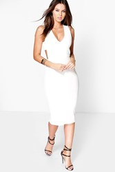 Kimmy Cut Out Side Plunge Midi Dress