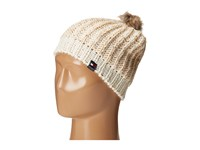 Tommy Hilfiger Chunky Beaded Beanie With Faux Fur Pom White Beanies