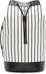 Dolce And Gabbana Black And White Striped Backpacked