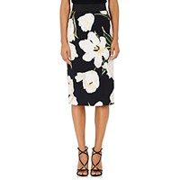 Dolce And Gabbana Women's Tulip Print Cady Pencil Skirt No Color