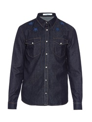 Givenchy Star Embroidered Denim Shirt