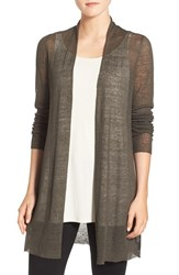 Eileen Fisher Women's Sheer Hemp Blend Long Cardigan