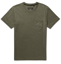 Rag And Bone Cotton Jersey T Shirt Green