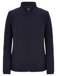 Viyella Quilted Jersey Jacket Navy
