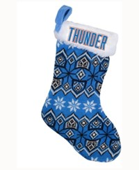 Forever Collectibles Oklahoma City Thunder Ugly Sweater Knit Team Stocking Blue