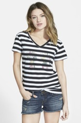 Boy Meets Girl 'Alice' Logo Tee Juniors Multi