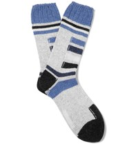 Folk Wool Blend Ski Socks Gray
