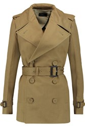 Joseph Townie Belted Cotton Twill Trench Coat Army Green