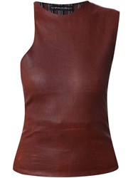 Y Project Leather Top Brown
