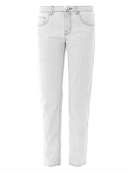Christopher Kane High Rise Straight Leg Jeans