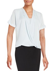 Ivanka Trump Sheer Wrap Blouse Frost