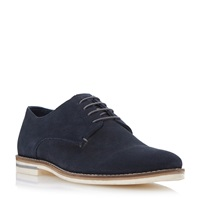 Howick Biscuit Lace Up Derby Shoes Navy