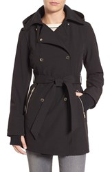 Jessica Simpson Women's Double Breasted Soft Shell Trench Coat