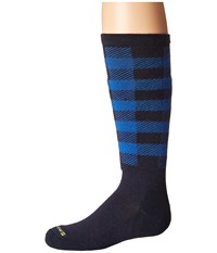 Smartwool Wintersport Buff Check Deep Navy Knee High Socks Shoes