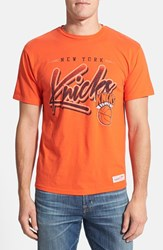 Men's Mitchell And Ness 'New York Knicks Script' Tailored Fit Graphic T Shirt