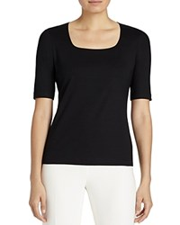 Lafayette 148 New York Square Neck Tee Black