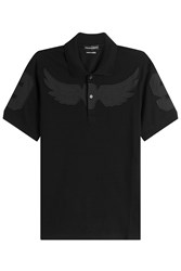 Alexander Mcqueen Cotton Polo Shirt Black