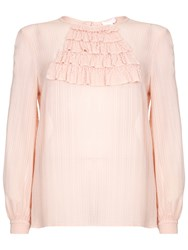 Ghost Vicky Georgette Blouse Light Apricot