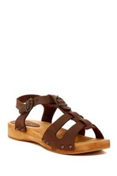 Sanita Olsie Low Flex Wood Sandal Brown