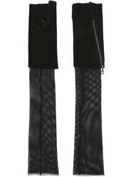 Lost And Found Ria Dunn Long Mesh Gloves Black