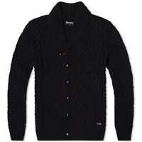 Barbour Kirktown Shawl Cardigan Navy