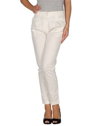 Magazzini Del Sale Casual Pants White