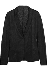Majestic Metallic Linen Blazer Black