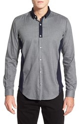Men's Bogosse 'Vince' Shaped Fit Long Sleeve Colorblock Sport Shirt