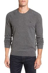 Lacoste Men's Crewneck Cashmere Sweater Scarab Black Chine